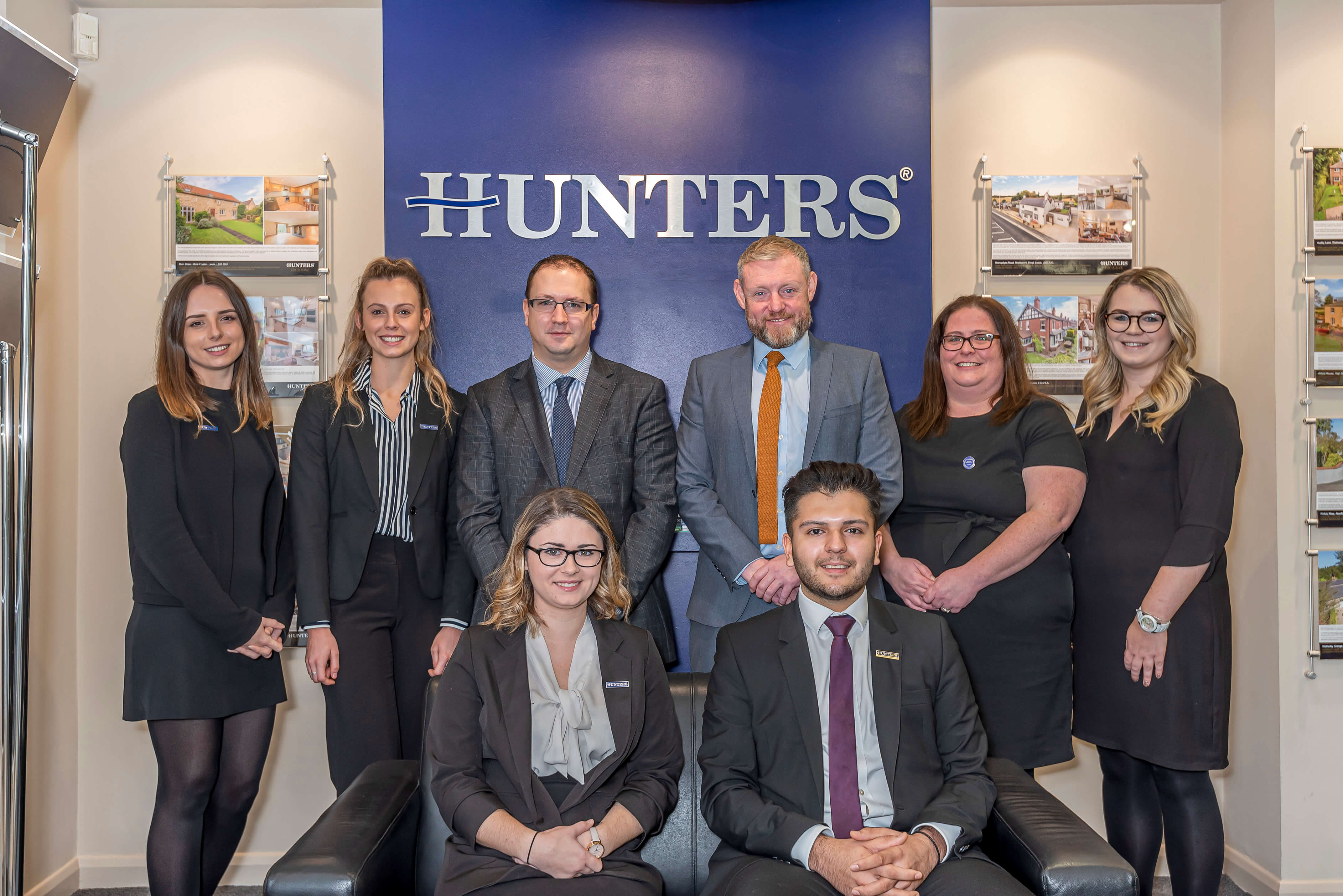 A photo of the Hunters Wetherby team in the office.