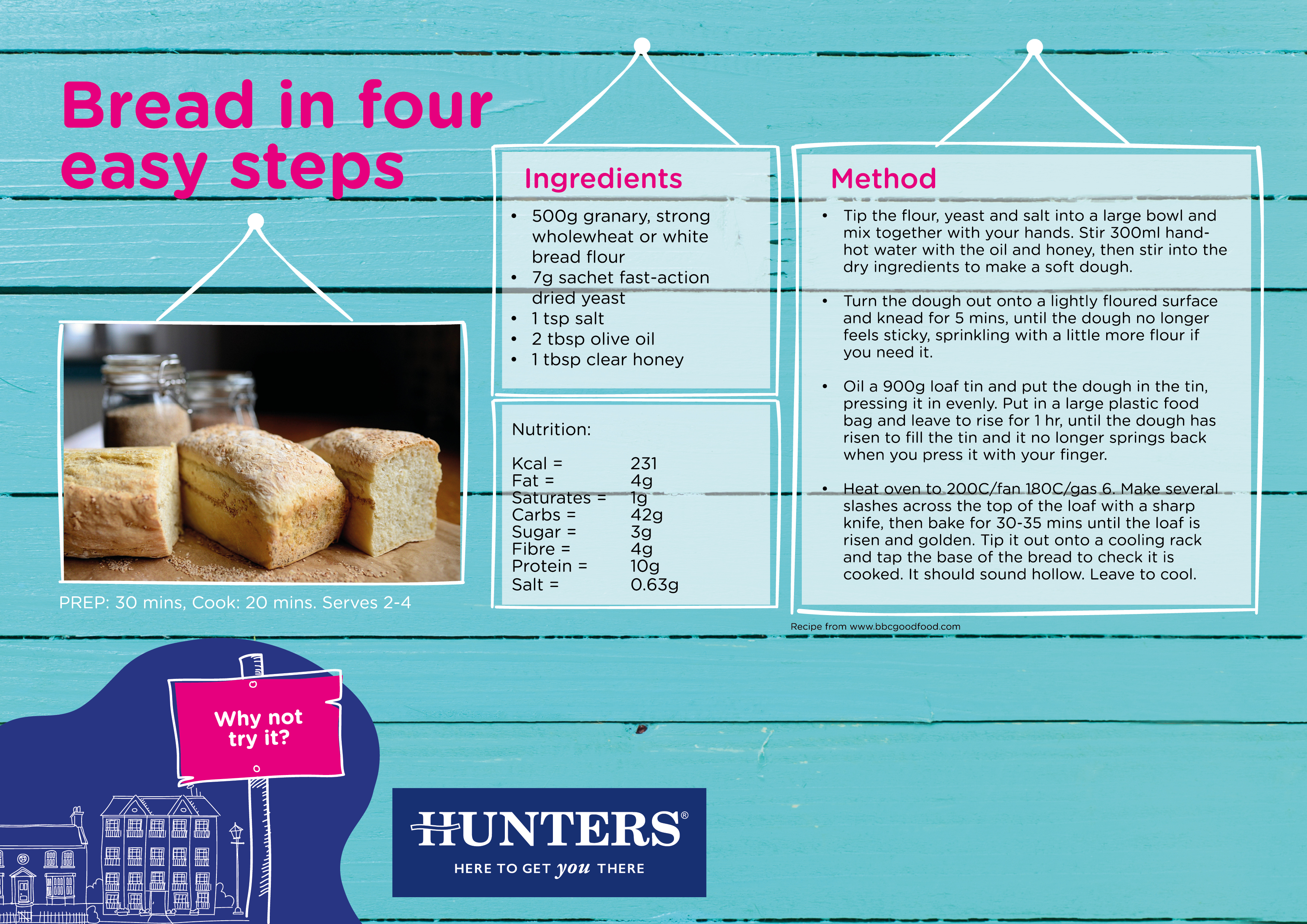 Hunters Activity Zone - bread in four easy steps